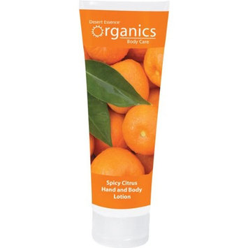 Desert Essence Organics Body Care Hand and Body Lotion, Spicy Citrus