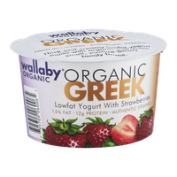 Wallaby Organic Greek Lowfat Yogurt With Strawberries
