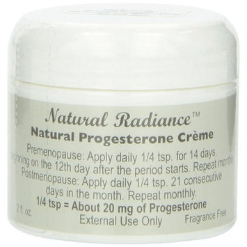 Natural Radiance Progesterone Cream Jar, Unscented, 2 Ounce