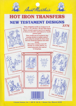 Aunt Martha's Iron-On Transfer Collections-New Testament Motifs
