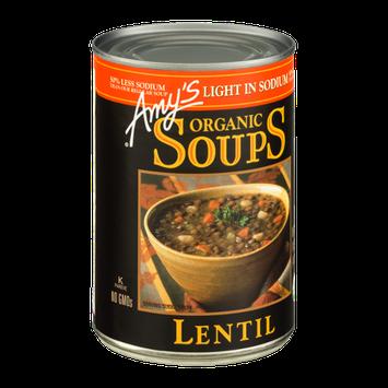 Amy's Organic Soups Lentil Light In Sodium