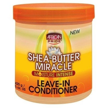 African Pride Shea Butter Miracle Leave-In Conditioner 15oz Jar (2 Pack)