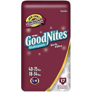 Huggies GoodNites Underpants, Girls, Small/Medium, 17-Count