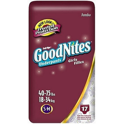 Huggies GoodNites Underpants, Girls, Small/Medium, 17-Count