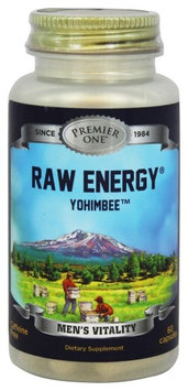 Premier One Raw Energy Yohim - 60 Capsules - Other Herbs