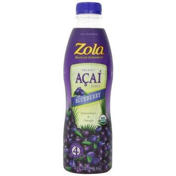 Zola Acai + Blueberry Juice, 32-Ounce Bottles (Pack of 8)