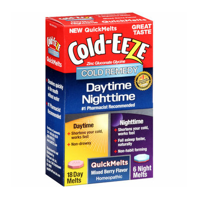 Cold-Eeze Daytime Nighttime Mixed Berry Flavor Cold Remedy QuickMelts