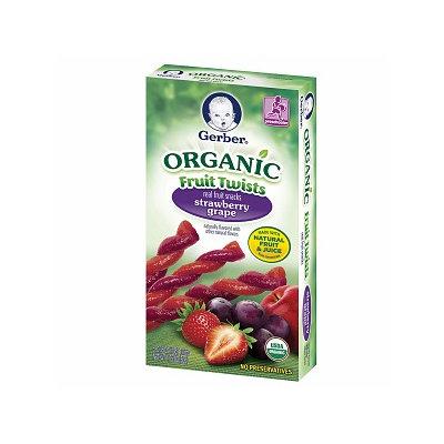 Gerber® Organic Fruit Twists Strawberry Grape