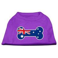 Mirage Pet Products 5109 LGPR Bone Shaped Australian Flag Screen Print Shirts Purple L 14