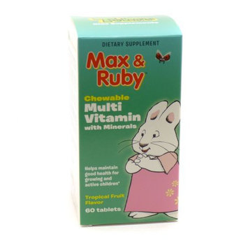 Treehouse Max & Ruby Multi Vitamin with Minerals Natural Factors 60 Chewable