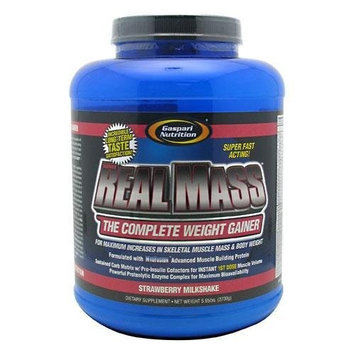 Real Mass Probiotic Series-Strawberry Milkshake Gaspari Nutrition 6 lb Powder