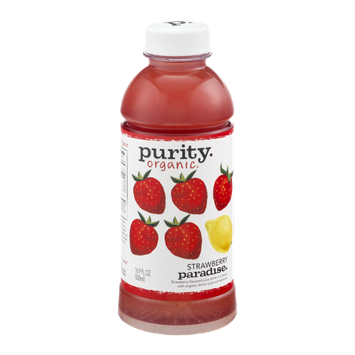 Purity Organic Flavored Juice Drink Strawberry Paradise