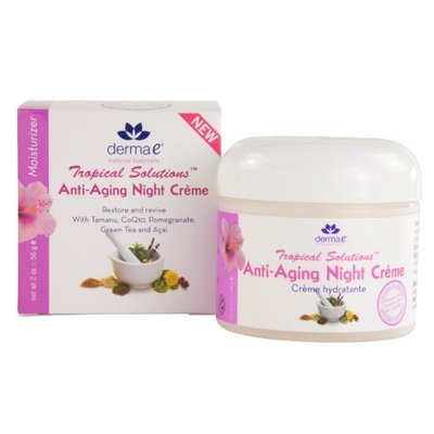 derma e Natural Bodycare Tropical Solutions Anti-Aging Night Crème, 2-Ounce Bottle