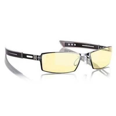 Gunnar Optiks Paralex Full Rim Narrow Advanced Video Gaming Glasses with Headset Compatibility and Amber Lens Tint