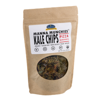 Manna Organics Manna Munchies Kale Chips Pizza Margherita