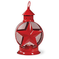 Boston International Star Metal Tealight Lantern, Blue