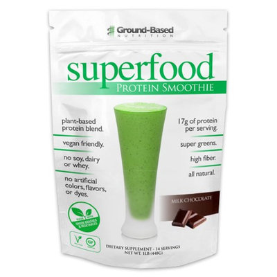 Groundbased Nutrition Ground-Based Nutrition - Superfood Protein Smoothie Milk Chocolate - 1 lb.