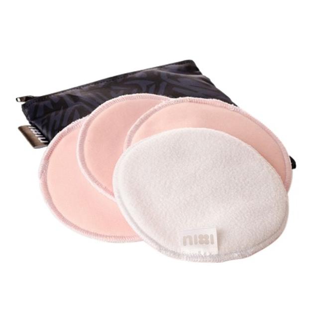 Nixi by Bumkins Nursing Pad 2 Pair with Waterproof Travel Bag - Flint