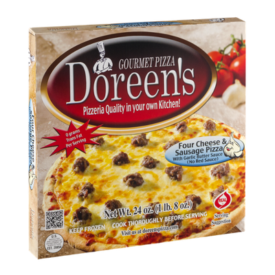 Doreen's Gourmet Pizza Four Cheese & Sausage
