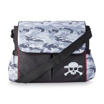 Tender Kisses Fashion Messenger Diaper Bag Camo/Skull - Rose Art