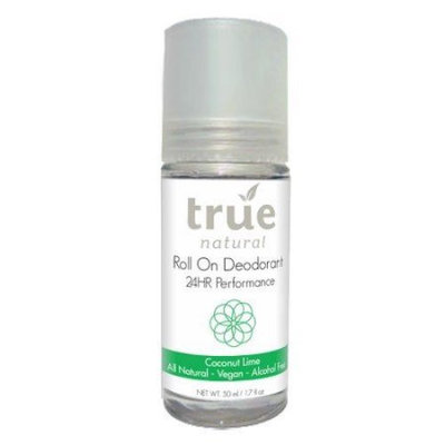 True Natural 24hr Roll-On Deodorant, Coconut Lime, Alcohol-Free