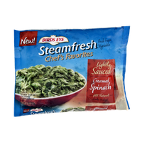 Birds Eye Steamfresh Chef's Favorites Lightly Sauced Creamed Spinach
