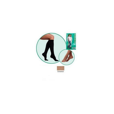 Juzo 2002ADFFSBSH57 V V Soft Closed Toe Knee High Short 30-40 mmHg with Silicone Border - Cinnamon