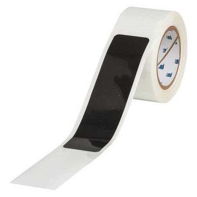 TOUGHSTRIPE 142178 Floor Marking Tape, Dash,2In W,Black, PK46