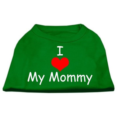 Ahi I Love My Mommy Screen Print Shirts Emerald Green XL (16)