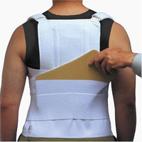 ITA-MED TLSO (Thoracic Lumbo Sacral Orthosis) with back pocket, Strong Support,Adult, Size: L