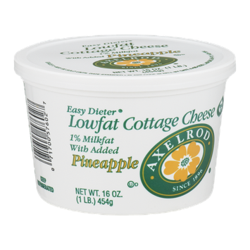 Axelrod Lowfat Cottage Cheese With Added Pineapple