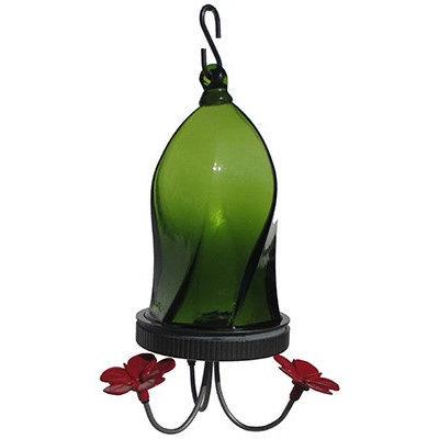 tures Way Nature's Way 16 Oz Jewel Green Twisted Hummingbird Feeder