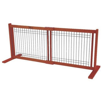 Dynamic Accents Small Wood and Wire Pet Gate Medium Cherry (42107)