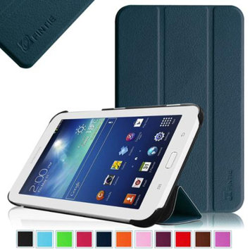Fintie Slim Shell Case Cover Ultra Slim Lightweight Stand for Samsung Galaxy Tab 3 Lite 7.0 Tablet, Navy