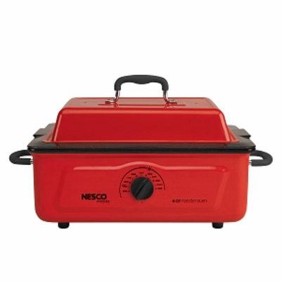 Nesco 5 Qt. 600 Wt. Roaster Porcelain Cookwell, Red, 1 ea