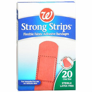 Walgreens Strong Strips Flexible Fabric Adhesive Bandages