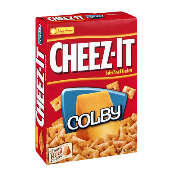 Cheez-It Baked Snack Crackers Colby