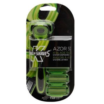 King of Shaves AZOR SD 4-Blade Razor System Disposable, 1 ea