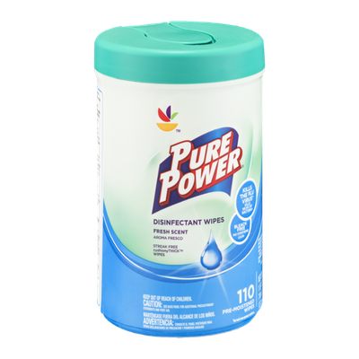Ahold Pure Power Disinfectant Wipes Fresh Scent - 110 CT