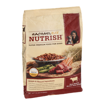 Rachael Ray Nutrish Dog Food Real Beef & Brown Rice Recipe