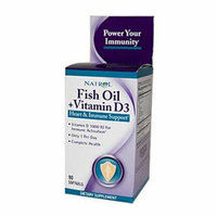 Natrol Fish Oil Plus Vitamin D3 Heart and Immune Support 90 Softgels