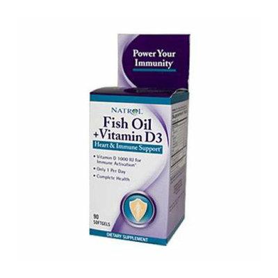 Natrol Fish Oil Plus Vitamin D3 Heart and Immune Support 90 Softgels