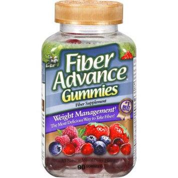 Fiber Advance Mixed Berry Flavors Fiber Supplement Gummies, 90 count