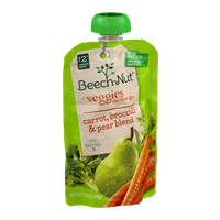 Beech-Nut® Stage 2 Veggies On-The-Go Carrot, Broccoli & Pear Blend