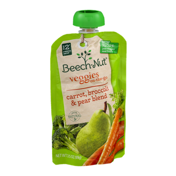 Beech-Nut Stage2 Veggies On-The-Go Carrot, Broccoli & Pear Blend
