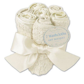 Bumkins Certified Organic Washcloth Bouquet - Cream