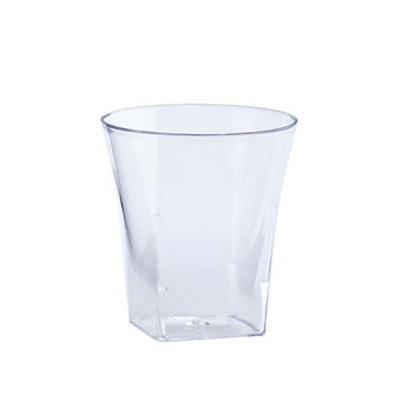 King Zak Ind Lillian Tablesettings 12245 Clear 2 Oz Plastic Flared Tumbler - 720 Per Case