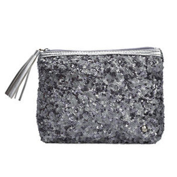 Stephanie Johnson Beverly Hills Collection, Silver, Alex Sparkle Cosmetic Case, 1 ea