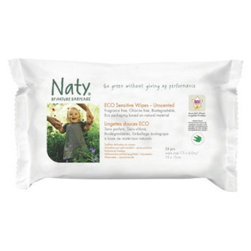 Naty by Nature Babycare Nature Babycare Eco Sensitive Baby Wipes 24 Count Travel Pack (10