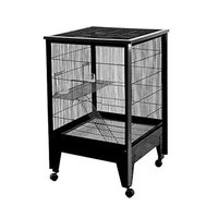 A&e Cage Medium 2-Level Small Animal Cage Color: Black